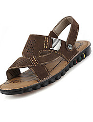 Коричневый / Кофе-Мужская обувь-Для прогулок-Кожа-Сандалии
