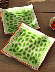 Grooved Dish of Cold Dishes Square Cake Dish