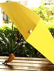 Cores Sortidas Guarda-Chuva Dobrável Sombrinha / Ensolarado e chuvoso / Chuva Metal / têxtilCarrinho / Crianças / Viagem / Lady /