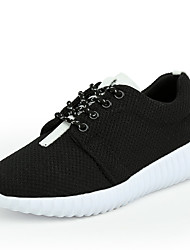 Femme Chaussures d'Athlétisme Confort Tulle Eté Automne Athlétique Décontracté Marche Confort Lacet Plateforme Blanc Noir Rose7,5 à 9,5