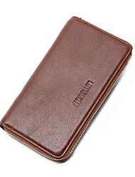 Men Evening Bag Wallet PU Casual Black Brown Light Brown
