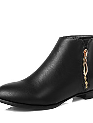 Women's Boots Spring / Fall / Winter Fashion Boots / Bootie Leatherette  Casual Low Heel Others Black / Almond