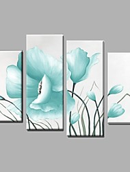 4 piece/set Flower Wall Art Handpainted Oil Painting Wall Art Gift with frame Ready to Hang