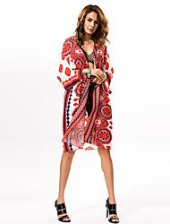 # Femme Col Arrondi 1/2 Longueur de manches Pull & Cardigan Rouge-0523