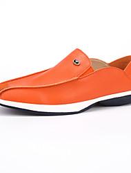 Men's Flats Spring / Summer / Fall / Winter Comfort PU Casual Flat Heel Others Blue / White / Orange Walking