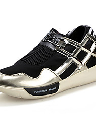 Men's Flats Spring Flats Tulle Athletic Flat Heel Lace-up Black / Silver / Gold Basketball