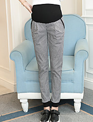 Maternity Simple Slim Pants,Cotton Stretchy