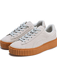Men's Womens Fashion Shoes EU37-EU45 Casual/Travel/Youth Breathable Suede Flats Ultralight Creepers Plus Size