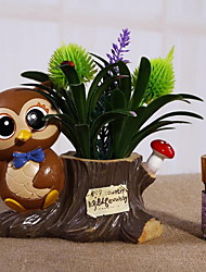 Cute Resin Couple Owl Piggy Bank with Perfume