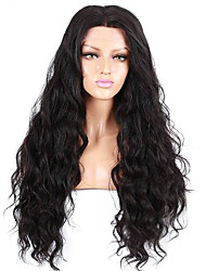 evawigs 16-26 '' vague de vague naturelle de cheveux remy brazilian pleine perruque de dentelle noire naturelle