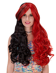 Black red  long hair wig.WIG LOLITA, Halloween Wig, color wig, fashion wig, natural wig, COSPLAY wig.
