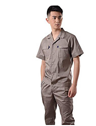 Grey Short Sleeved Working Clothing for Men  Size XXL-180