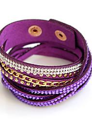 Bracelet Bracelets Alliage Forme Ronde Personnalisé Soirée Bijoux Cadeau Noir Blanc Brun Violet Gris Incarnadin,1pc