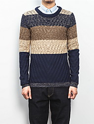 Men's Fashion Casual Long Sleeved Round Neck Sweater / Sweater