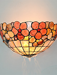12 inch Retro Peony Tiffany Wall Lights Shell Shade Living Room Bedroom Kids Room light Fixture