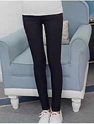 Maternity Simple Skinny Pants,Cotton Micro-elastic