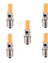 5W E17 Lampes sur Rail T 1 COB 400-500 lm Blanc Chaud / Blanc Froid Gradable / Décorative AC 110-130 V 5 pièces