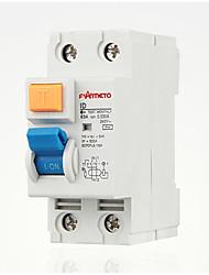 eletromagnética 2p guia protetor de circuito de fuga ferroviário disjuntor RCCB casa id