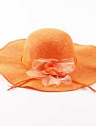 Chapeau de soleil Printemps / Eté Vintage / Décontracté Lin / Paillette Femme