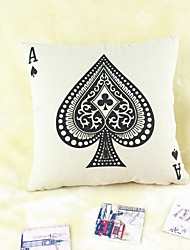 Spade A Cotton/Linen Pillow Cover