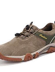 Women's Shoes Suede Spring / Fall Comfort Athletic Shoes Casual Flat Heel Blue / Khaki Hiking