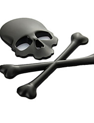 Metal Car Stickers, 3D Stereo Skull Personality Car Stickers