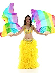 Dance Accessories Belly Dance Veil Women's Performance Silk 1 Piece Multi-color