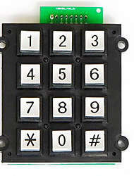 12 Keyboard Access Control Intercom Telephone Zinc Alloy Metal Buttons With LED Lights Access / Counters Supporting Key