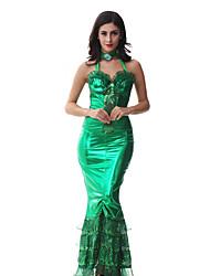 Costumes de Cosplay / Costume de Soirée Sirène Fête / Célébration Déguisement Halloween Vert Vintage RobeHalloween / Noël / Carnaval / Le