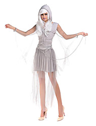 Costumes Ghost / Zombie / Vampires Halloween / Christmas / Carnival Silver / White Vintage Dress