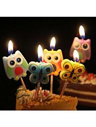 Acessórios do partido Velas Aniversário Tema Borboleta Other Não-Personalizado Material Amigo do Ambiente / Liga de Alumínio Multicolorido