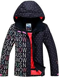 roupas de esqui no topo térmica / quente materiais leves à prova de vento