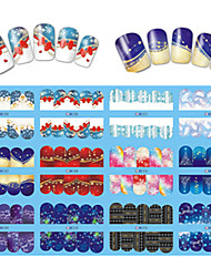 12 Designs Nail Art Beautiful Snowflake Image Nail DIY Beauty BN205-216