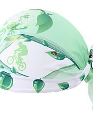 Bandanas Moto Respirável / Filtro Solar / Antibacteriano / Redutor de Suor Unissexo Verde Terylene