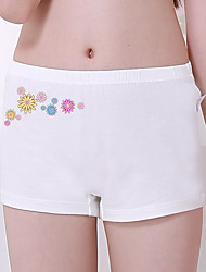 Girl's Casual/Daily Floral Underwear & Socks,Cotton All Seasons White