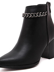 Women's Boots Spring / Fall / Winter Heels / Riding Boots Leatherette Outdoor / Casual Chunky Heel Chain Black Others