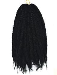 extensão do cabelo encaracolado 16 polegadas folio crochet trança havana mambo torção afro Kinky