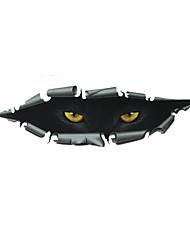 pegatinas ojos de coches, parachoques de automóviles personalidad del gato 3d