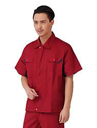 masculina y femenina de manga corta de los guardapolvos del verano de manga corta gris venta ropa protectora cómodo, 180)