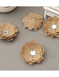Jute Wedding Decorations-1Piece/Set Artificial Flower Birthday Garden Theme Brown Spring