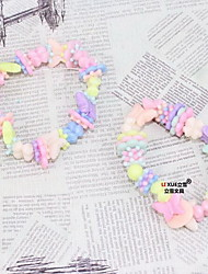 Children DIY Bracelets 1pc, Colorful Bracelet Fashionable Resin Jewellery Random Color