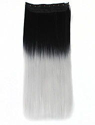 Two Tone Ombre Hair Clip in Hair Extensions Synthetic Hair Dip Dye Clip in Ombre Hair Extensions Clip on Hairpieces