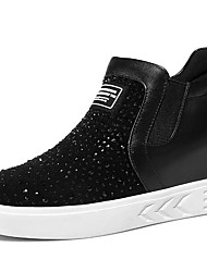 Women's Sneakers Spring / Summer / Fall / Winter Comfort Glitter Athletic / Casual Flat Heel Glitter Black Sneaker