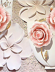 JAMMORY 3D Wallpaper For Home Contemporary Wall Covering Canvas Material Rose Relief3XL(14'7''*9'2'')