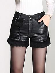 Pantalon Aux femmes Short Sexy / simple / Mignon Polyuréthane Micro-élastique