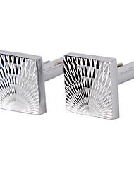 Cufflinks 1 pair,Solid Silver Fashionable Cufflink Men's Jewelry