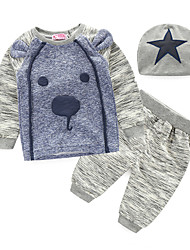Baby Casual/Daily Embroidered Clothing Set-Cotton-Winter / Fall-Gray