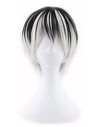 Cosplay Mix Color Black and White Man Wigs New Fashion Wigs