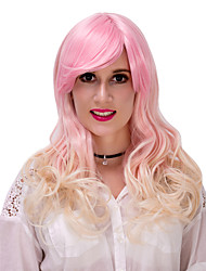 gradient d'or wig.wig cheveux lolita rose, perruque halloween, couleur perruque, perruque de mode, perruque naturelle, perruque cosplay.