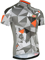Sports® Cycling Jersey Men's Short Sleeve Breathable / Front Zipper / Wearable / Ultra Light Fabric / Soft / Comfortable Bike Tops